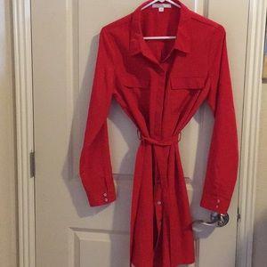Button dress- valentines red